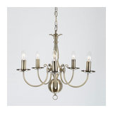 Bruges 5 Light Antique Brass Flemish Chandelier