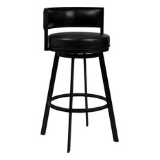 Chateau Counter Height Barstool - Vintage Black Faux Leather