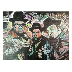 "Canvas Painting Run DMC Hip Hop Rap Music Painting 18""x24"" by Matt Pecson"