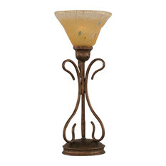 25 most popular torchiere table lamps for 2018 houzz toltec lighting toltec lighting swan table lamp bronze 7 amber crystal glass aloadofball Choice Image