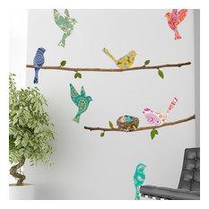 chad harris wall decal paisley birds u0026 branches wall decals - Wall Decals