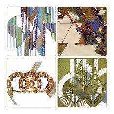 Frank Lloyd Wright Graphic Designs Stone Coasters, Set of 8