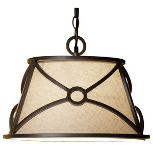 Masa S1 Steel and Fabric Pendant Light