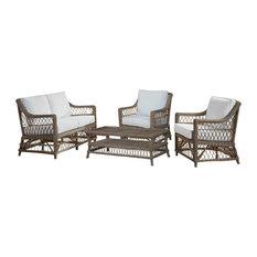 Panama Jack Seaside 4-Piece Living Set, Sunbrella Cabana Regatta