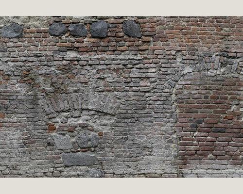 Digital Walls eurowalls digital walls - distressed brick mural install