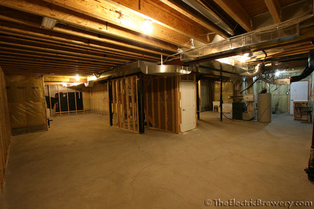 Room of the day cheers to a home basement brewery for for Building a sauna in the basement