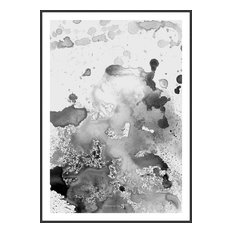 """Incado Heaven on 3rd Collection """"GreyShades"""" Framed Poster, 50x70 cm"""