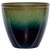 Suncast  14 x 16 x 16 in. Resin Modern Planter  Green & Blue