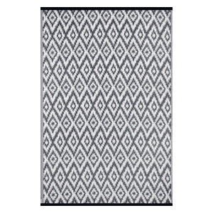 Espero Indoor/Outdoor Rug, Charcoal Grey and White, 120x180 cm