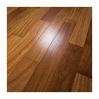 "5""x1/2"" Brazilian Teak Prefinished Engineered Wood Flooring, 1 Box"