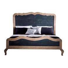 Mobili G.M - Merlin Mobili King Size Bed in Ash, Blackboard - Panel Beds