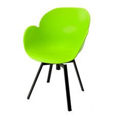 Petali Modern Dining Chair, Green