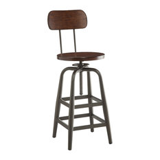 Office Star Products   Sullivan Stool, Pewter And Walnut   Bar Stools And  Counter Stools
