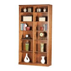 """Eagle Furniture - Eagle Furniture 84"""" Tall, Double Wide Coastal Bookcase, Havana Gold - Bookcases"""