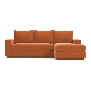 Harper Reversible Chaise Sofa, Clementine