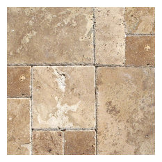 Tuscany Chateaux Travertine Versailles Pattern Tiles, Honed, 8 Sq. ft.