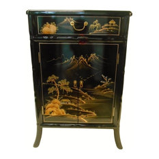 Superieur Oriental Furnishings   Oriental Shoe Cabinet Carved Bamboo Style   Accent  Chests And Cabinets