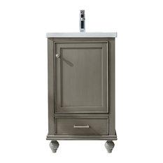 """Melissa 20"""" Bathroom Vanity, Silver Grey"""
