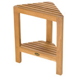 """ARB Systems Inc. - Fiji Corner Footrest, 2 Tier - ARB Teak products are made from responsibly harvested plantation grown teak - dried to perfection and beautifully finished. We use only the highest quality hardware made from solid brass and stainless steel, meaning no rust. Our Solid Teak Shaving Foot Rest is ideal for """"wet"""" applications and made to withstand constant water flow."""