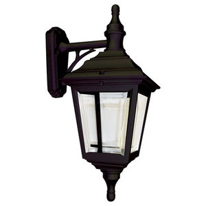 Traditional Exterior Wall Lantern, Black