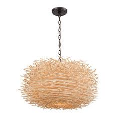 Elk Group International Bamboo Nest 3 Light Pendants Oil Rubbed Bronze Pendant