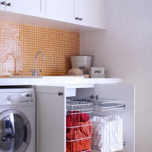 TANSEL Laundry Storage - Stainless Steel Pull Out Wire Baskets