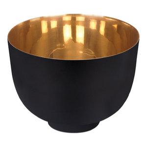 Black Kaas Small Decorative Bowl, Polished Brass