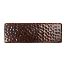 The Copper Factory Solid Hammered Copper 6 x2 Inch Accent Tile Copper