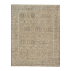 Anamaria Clarisse Gray Mediterranean Hand-Knotted Wool Area Rug, 6'x9'