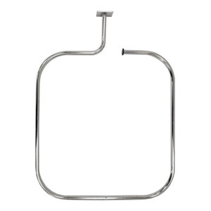 Loop Square Stainless Steel Rectangular Shower Rail and Curtain Rings