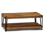 """Bolton Furniture - Ryegate Natural Live Edge Solid Wood With Metal Coffee Table, Natural, 43""""x24"""" - Industrial-styled Ryegate features solid wood tops with wood veneers. These tables make a strong industrial modern statement in your living space.  Each tabletop is unique; no two tops will be exactly alike. Constructed of natural acacia wood. Each of our live edge products includes nylon floor protectors. The knots and cracks add to the wood's character. A clear natural finish enhances the beautiful features in each piece of wood."""