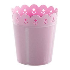 Blancho Bedding 2 Piece Stylish Utensils Holder Chopsticks Spoons Forks Knife Organizer Pink