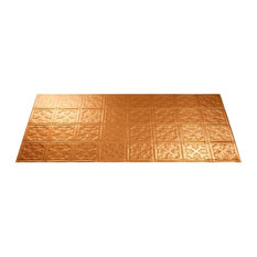 "24""x48"" Fasade Traditional 10 Glue-up Ceiling Tile, Polished Copper"