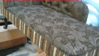 .Antique chaise re-upholstered