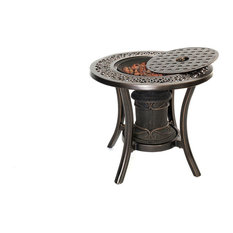 Hanover - 10, 000 Btu Fire Pit Side Table - Fire Pits