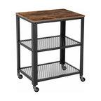 Industrial Serving Cart, 3-Tier Kitchen Utility Cart,Metal Frame ULRC78X