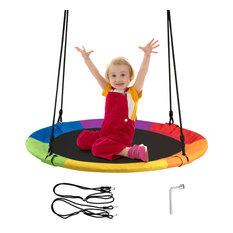 Goplus 40'' Flying Saucer Tree Swing Indoor Outdoor Play Set Swing for Kids