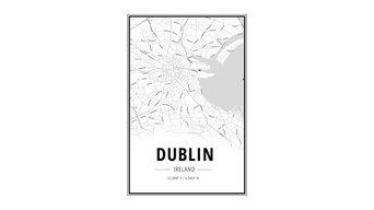 Dublin Map Wall Art
