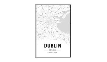 Dublin Map Wall Art