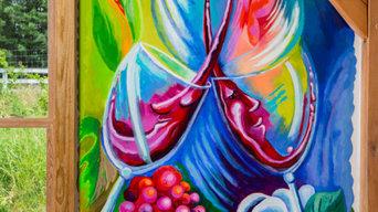 Chestnut Oak Vineyard Mural