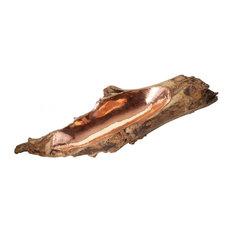 Natural Teak/Copper Short Teak Root Bowl With Copper Insert