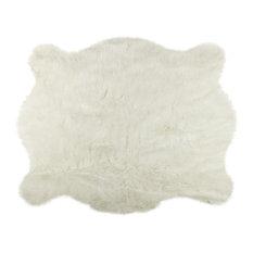 Faux Hide Rug/Throw, Polar Bear, 4'x5'