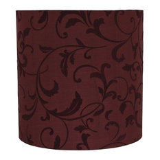 """31311 Drum Shape Spider Lamp Shade, Red, 10"""" wide, 10""""x10""""x10"""""""