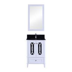 Legion Furniture Single Sink Vanity With Mirror Set White 24