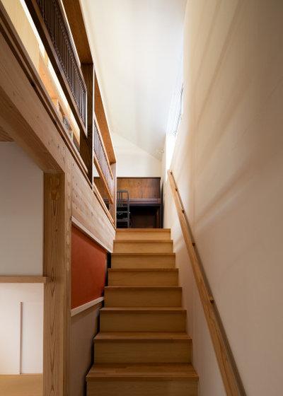 和室・和風 階段 by 一級建築士事務所 ikmo