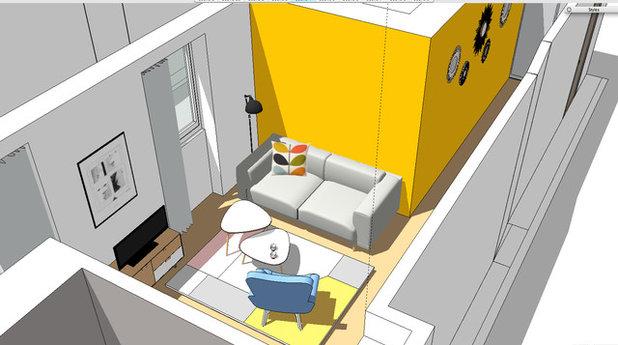 visite priv e un studio aux tons acidul s. Black Bedroom Furniture Sets. Home Design Ideas