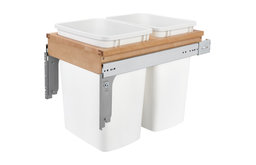 """Double 35 Quart Top Mount Waste Container , 1-1/2"""" faceframe"""