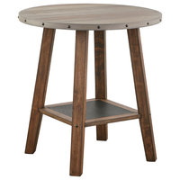 Elenora Rustic Brown, Counter Height Table