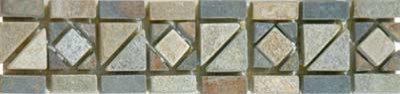 Border, Slate Diamond/Triangle Mosaic - Tile