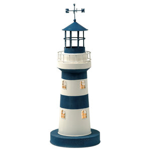 Striped Lighthouse Table Lamp